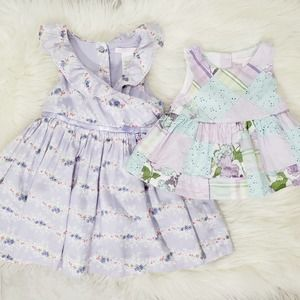Janie And Jack Floral Dress & Top 6 to 12 Months